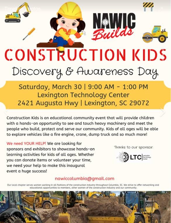 NAWIC Construction Kids Day SC Promo